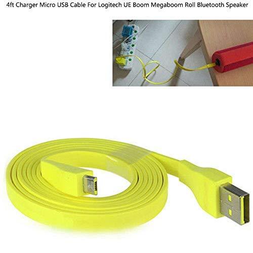 BAAQII Ladegerät Micro-USB-Kabel für Logitech UE Boom Megaboom Roll Bluetooth-Lautsprecher