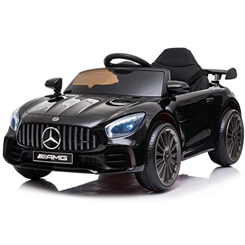 ATAA Mercedes GTR Mini 12v - Negro - Coche eléctrico para niños con batería 12v