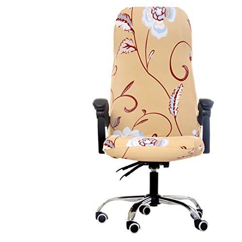 JIAHIJSA Cubierta giratoria de Spandex de la Silla de la computadora de la Oficina del tamaño Grande Cubiertas de Las sillas para el Estiramiento de la Silla de Lycra de Las sillas 11 As Description