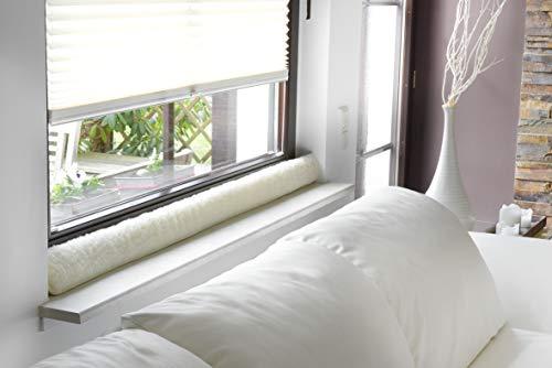 K. & N. Schurwolle 551 Schurwoll-Zugluftstopper für Fenster 100 cm, Natur