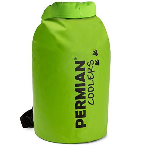PERMIAN Coolers Tragbare Kühltasche mit Roll-Top, Isoliert, 15L - Faltbare, wasserdichte Trockentasche für Kajakfahren, Kühlrucksack zum Wandern, Auslaufsicher, Schwimmender Kühler
