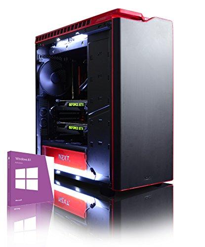 VIBOX Legend 5 PC Gaming Computer con Voucher di Gioco, Windows 10 OS (4,5GHz Intel i9 Extreme 10-Core Processore, 2x Dual SLI Nvidia GeForce GTX 1080 Ti Schede Grafiche, 16GB DDR4 RAM, 3TB HDD)
