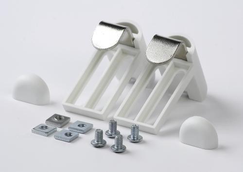 Klemmträger EFIXS Rollo Kinderleichte Montage - Material: Kunststoff - Farbe: weiß - Lieferumfang: 1 Paar, 2 Paar Schrauben, 2 Paar Muttern