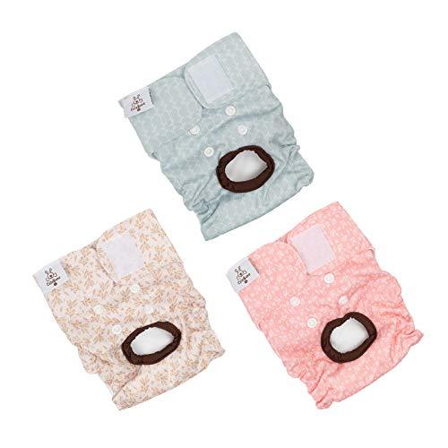 CuteBone Medium Washable Female Dog Diapers 3 Pack D16M