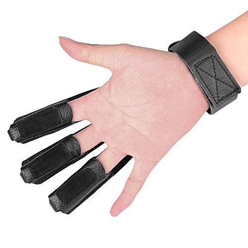 Magarrow Archery Glove Finger Tab for Shooting Arrow (Black)