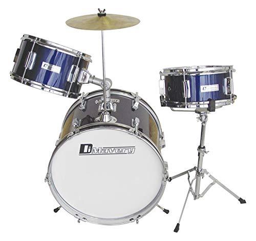 Dimavery JDS-203 Kinder Schlagzeug, blau | 3-teiliges hochwertiges Kinderschlagzeug