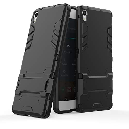 Cocomii Iron Man Armor Sony Xperia XA Case, Slim Thin Matte Vertical & Horizontal Kickstand Reinforced Drop Protection Fashion Phone Case Bumper Cover Compatible with Sony Xperia XA (Jet Black)
