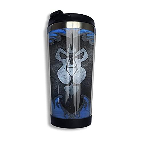 World Warcraft Game Taza de café reutilizable de acero inoxidable aislada taza de viaje para bebidas frías calientes 13 oz/400 ml