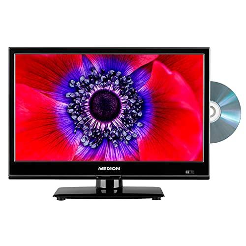 MEDION E11961 47 cm (18,5 Zoll) Fernseher (integrierter DVD-Player, HD Triple Tuner, CI+, 12V KFZ Car-Adapter, Mediaplayer)