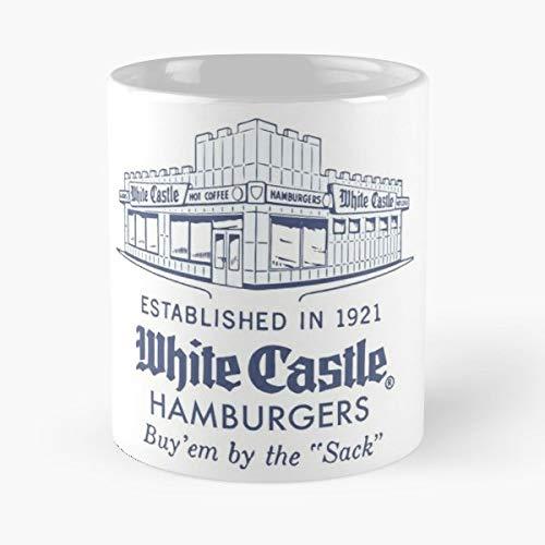 White Castle Hamburgers Vintage Food - Morning Coffee Mug Ceramic Novelty Holiday 11 Oz