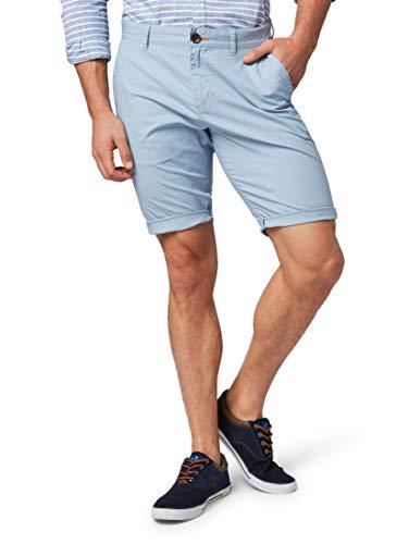 TOM TAILOR Herren Hosen & Chino Josh Regular Slim Chino-Shorts Yonder Blue,38