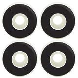 51x31mmスケートボードホイール、4個のPU競技会場使用法5インチダブルワープスケートボードブラケットホイールアクセサリー(白い)