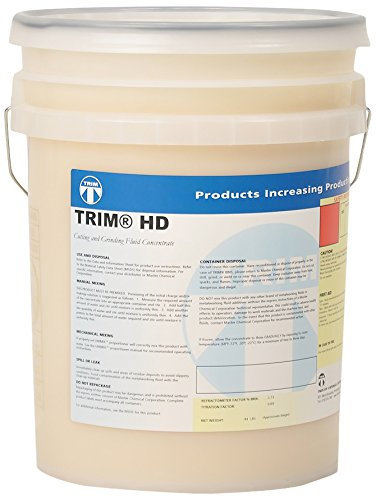 TRIM Cutting & Grinding Fluids HD/5 Heavy-Duty Synthetic Coolant Concentrate, 5 gal Pail