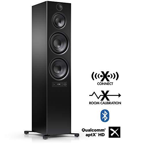Nubert nuPro X-8000 RC Standlautsprecher   Bluetooth Lautsprecher aptX HD   Lautsprecher Verbindung kabellos High Res 192 kHz/24 bit   Aktivbox mit 3.5 Wege   High End Lautsprecher Schwarz   1 Stück