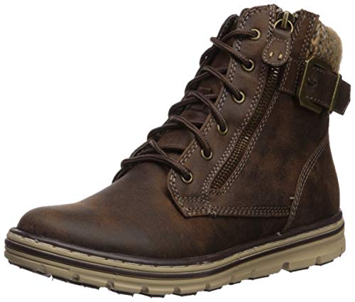 Cliffs by White Mountain Shoes Kelsie Women's Lace-up Hiker Style Bootie, Brown/Fabric, 11 M