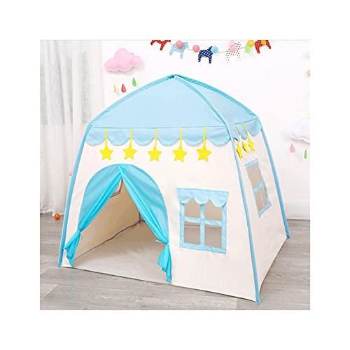 ZHONGTAI Tente Jouer Tente Enfants Tente de château d intérieur et de Plein air Princess Game Playhouse Girl Game Fairing Jeu pour Enfants Teepee Camping (Color : Blue)