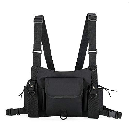 YoxYo Fonctionnel Poitrine Tactique Sac pour Hommes De Mode Bullet Hip Hop Gilet Streetwear Sac Taille Pack Femmes Noir Poitrine Rig Sac