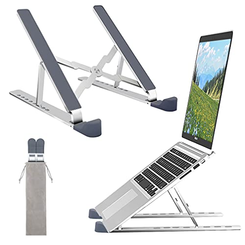 """ROTTAY Adjustable Laptop Stand for Desk, Ergonomic MacBook Stand, Portable Tablet Notebook Riser, Compatible with MacBook, Dell, HP, Lenovo, Acer and More 10-15.6"""" Laptops and Tablets"""