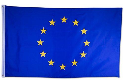 SCAMODA Bundes- und Länderflagge aus wetterfestem Material mit Metallösen (Europa) 150x90cm