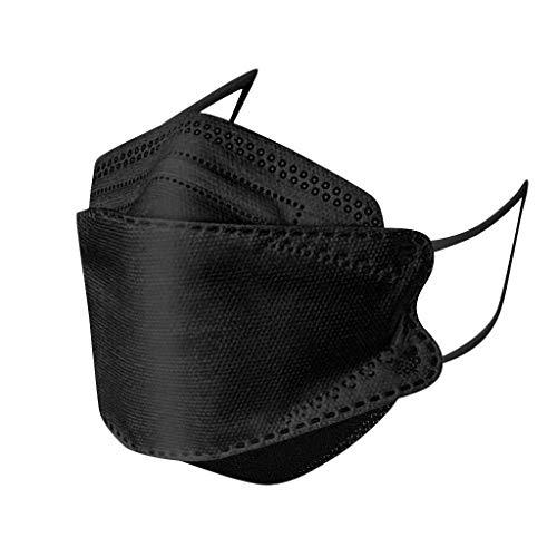 MaNMaNing Adulto 5 Capas 10/50 Unidades con Elástico para Los Oídos 2020072-MANING-DP901 (50 Unidades Negro)