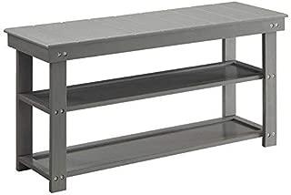 Convenience Concepts Oxford Utility Mudroom Bench, Gray