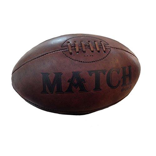Cuero Vintage pelota de Rugby Ram - regalo, trofeo, presentación pelota