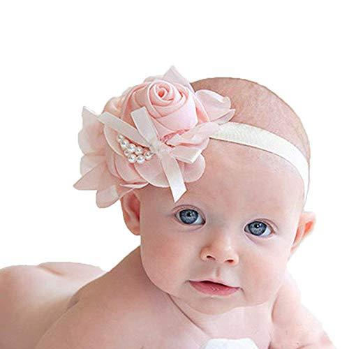 10x Petite Fille Nourrisson Bandeau de Cheveux Nœud Clips avec Élastique Cadeau