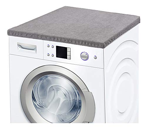 Ladeheid Waschmaschinenbezug Frotteebezug 50x60 cm (Dunkelgrau)