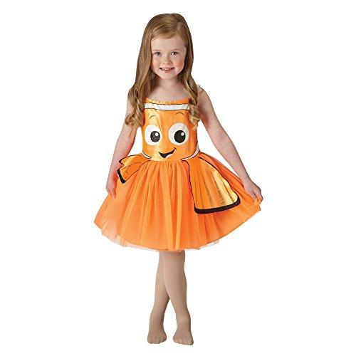 """Rubie's Costume di Carnevale da bambina a forma di Nemo dal film Disney-Pixar""""Alla ricerca di Dory"""", tipo tutù, taglia 2 – 3 anni"""