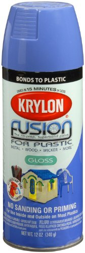 Krylon K02328007 Fusion for Plastic Aerosol Spray Paint, 12-Ounce, Red Pepper, 12 oz