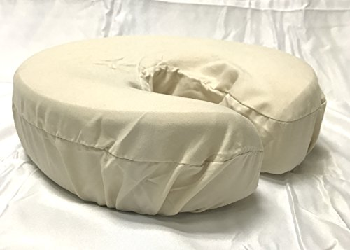Therapist's Choice Premium Deluxe Microfiber Massage Table Face Cradle Covers, 4pcs per package (Natural)
