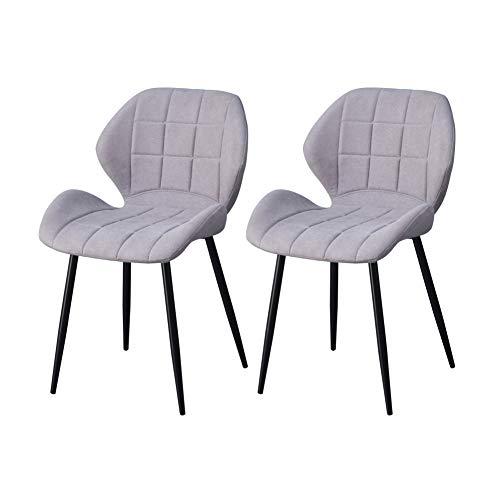 TUKAILAI 2 STÜCKE Grau Essstühle Stühle Drehstuhl Stoff Wohnzimmer Stühle Küchenstühle Esszimmer