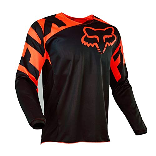 KAISUN Radfahren Jersey,MTB-Trikot Outdoor-Radsport Fahrrad Reitanzug Langarm-Shirt,Unisex Downhill-Anzug Herren Mountainbike Motocross Trikot (TYP-4,L)