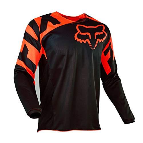 KAISUN Radfahren Jersey,MTB-Trikot Outdoor-Radsport Fahrrad Reitanzug Langarm-Shirt,Unisex Downhill-Anzug Herren Mountainbike Motocross Trikot (TYP-4,M)