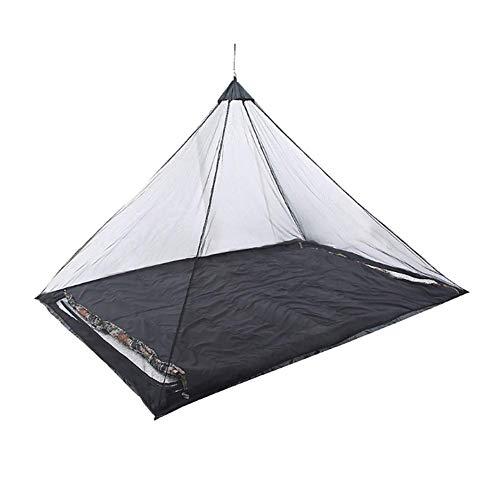 GCDN Mosquitera para cama individual de camping, compacta y ligera, portátil, plegable, previene los insectos, transpirable, elástica, mosquitera para pesca al aire libre, negro, 220*120*100cm