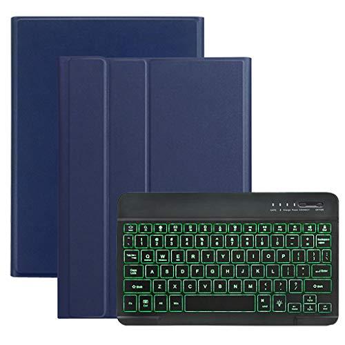 Tastatur Hülle für Samsung Galaxy Tab S5e 10.5 2019 SM-T720 T725,Colorful Kratzfest PU Leder Hülle mit Hinterleuchtet Abnehmbare Wireless Tastatur für Galaxy Tab S5e 10.5 T720 T725 (Blau)