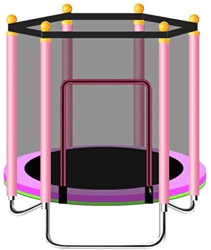 Pulley -O Cama elástica plegable para interiores y exteriores con red de seguridad engrosada Sin ruido en casa Niños Equipo de fitness al aire libre para niños Peso máximo 200 kg / 440Ib (48') O