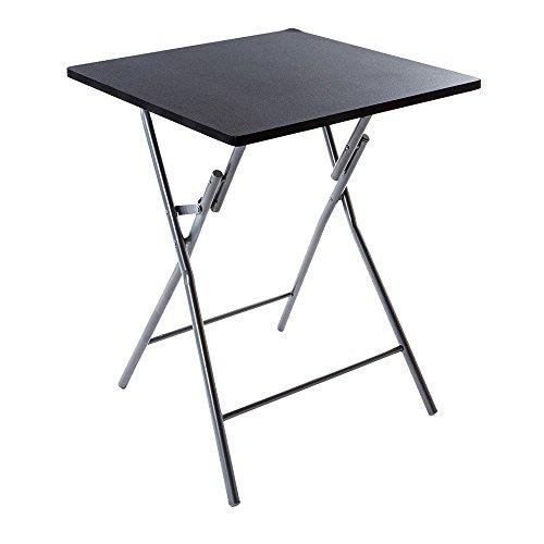 AC-Déco Table Pliante - Noir - Basic