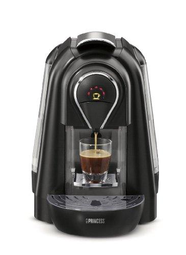 Princess - Cafetera Espresso 242224, Monodosis, 1 Taza, 1.1L, 19 Bar, Negro