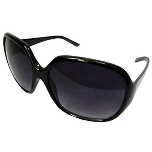 黒 8050001 でかレンズ サングラス ビックレンズ ビックフレーム レンズあり サングラス 小顔 (黒) [並行輸入品]