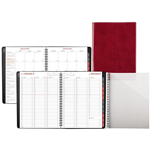 """Day-Timer Weekly / Monthly Appointment Book / Planner 2017, 8 x 11"""", Notebook Size, Red (33353) Photo #4"""