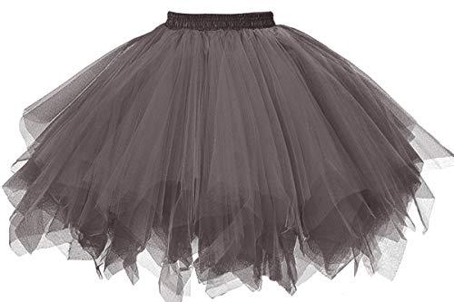 MuseverBrand 50er Vintage Ballet Blase Firt Tulle Petticoat Puffy Tutu Grey Small/Medium