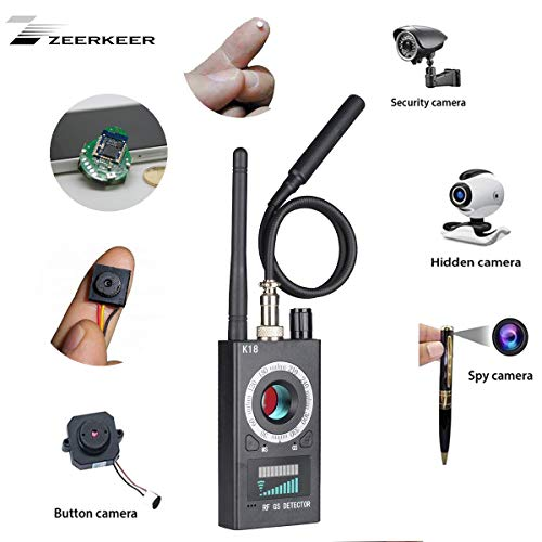 RF Bug Detector, Zeerkeer Anti-espía Cámara Oculta para Buscar Personas gsm Audio Bug Sweeper Escanear la señal RF GPS Tracker, Productos inalámbricos