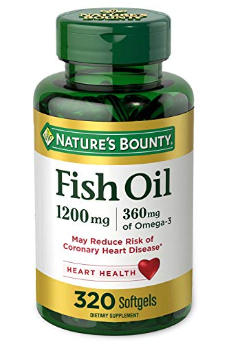 Nature's Bounty Fish Oil, 1200mg, 360mg of Omega-3, 320 Rapid Release Softgels