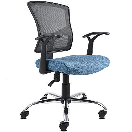 Silla de Oficina Ergonomica - Silla de Escritorio Ejecutiva | Giratoria con Respaldo, Ideal para Home Office y Trabajo - Reclinable | Color Azul