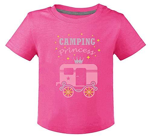Camping Princess - Camp d'été Fille T-Shirt Bébé Unisex 18M Fuchsia