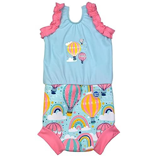 Splash About Baby Girls Costume Up & Away 6-14 Months Happy Nappy Badeanzug mit Schwimmwindel, Monate