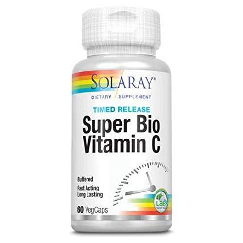 Solaray Super Bio C Buffered Vegan, Veg Cap (Btl-Plastic) 1000mg | 60ct