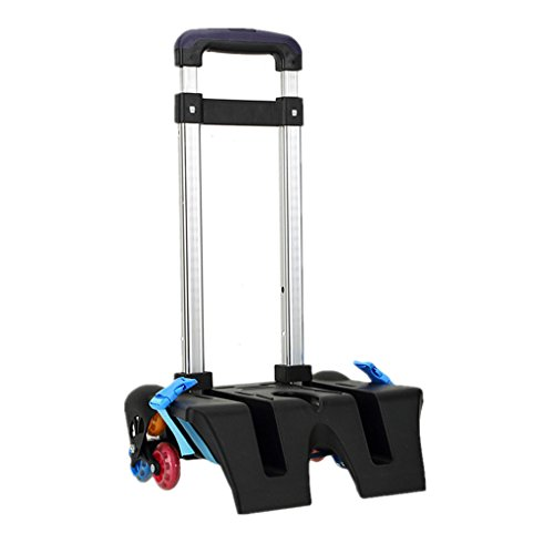Child Backpack Trolley Kids Luggage Cart Hand Aluminium Alloy Wheeled Trolley