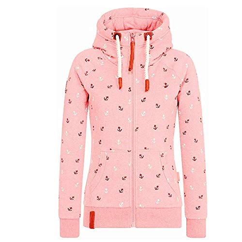 Newbestyle Jacke Damen Sweatjacke Hoodie Sweatshirt Oberteile Damen Pullover Kapuzenpullover Pulli mit Reissverschluss